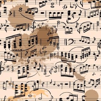 Musical score seamless