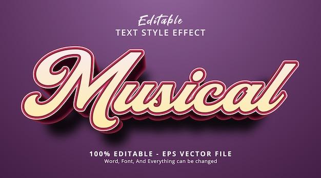 見出しのイベントスタイルの音楽テキスト、編集可能なテキスト効果