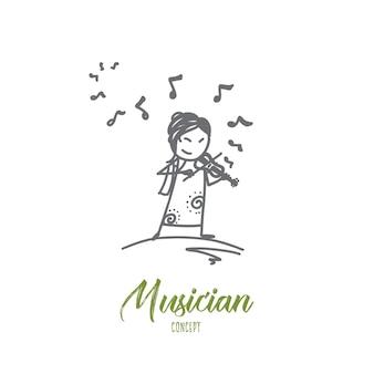 Musician concept illustration
