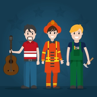 Musician fire fighter  and construction worker
