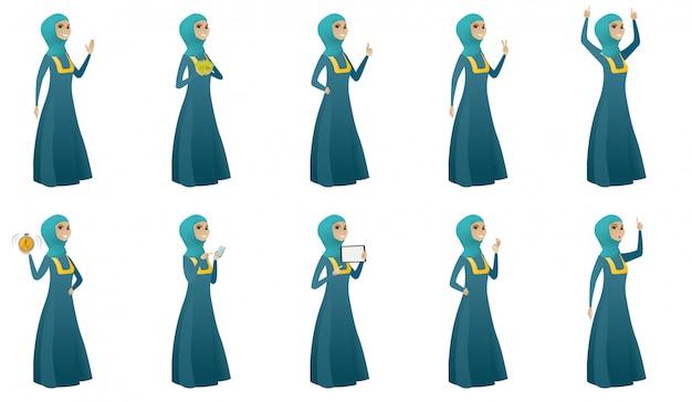 Muslim business woman set