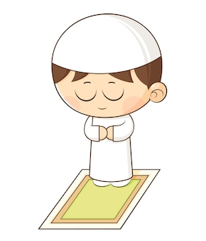 Muslim child praying
