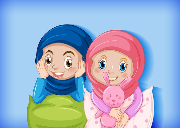 イスラム教徒の子供たちの漫画のキャラクター