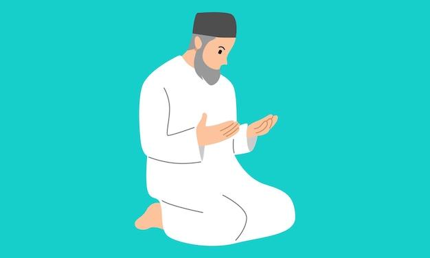 Мусульманин совершает намаз салат шалаат
