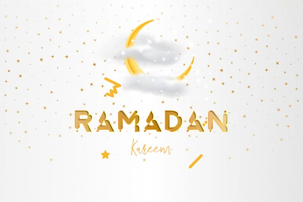 Muslim feast of the holy month of ramadan kareem background