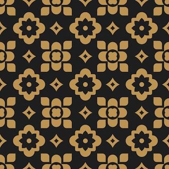 이슬람 꽃 동양 추상 원활한 패턴