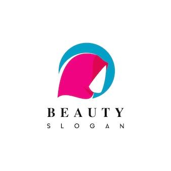 Muslim in hijab beauty fashion logo vector Premium Vector