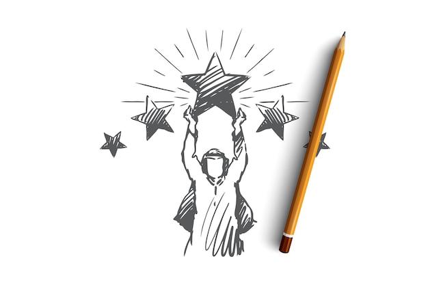 Muslim illustration in hand drawn