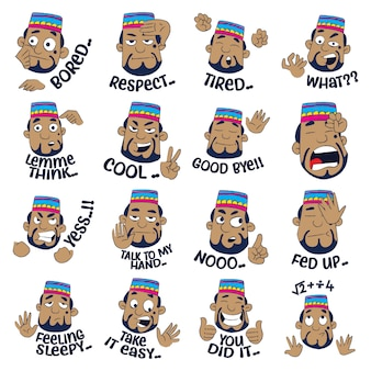 Muslim man sticker set