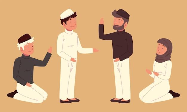 무슬림 캐릭터 전통 의상