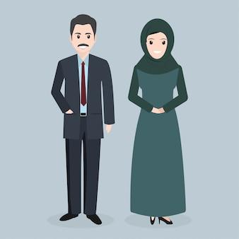 Muslim people icon arabic people illustration