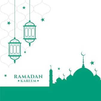 Мусульманский рамадан карим фестиваль приветствие дизайн