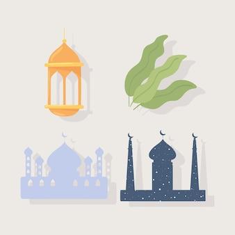 Мусульманский храм и фонарь