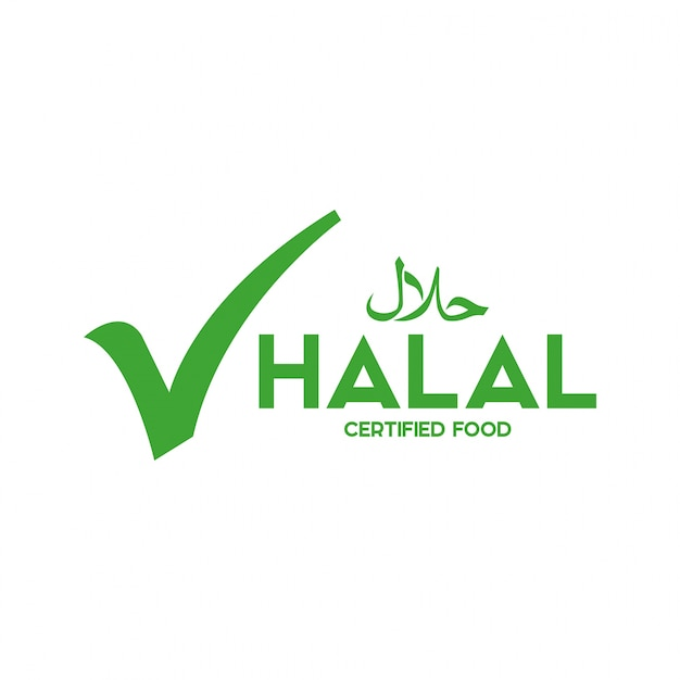 Muslim traditional halal food icon vector. badges, logo, tag, and label. suitable for bann