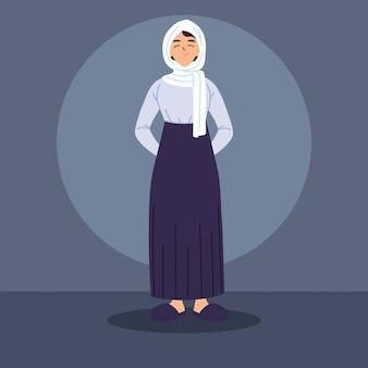 전통적인 복장에서 무슬림 여성