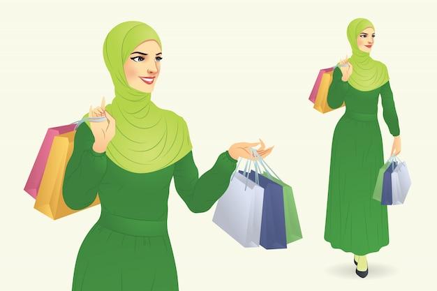Muslim woman shopping