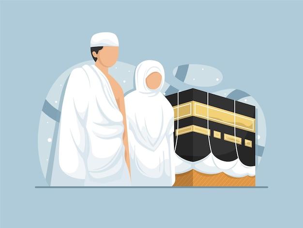 메카와 카바 플랫에서 순례중인 무슬림