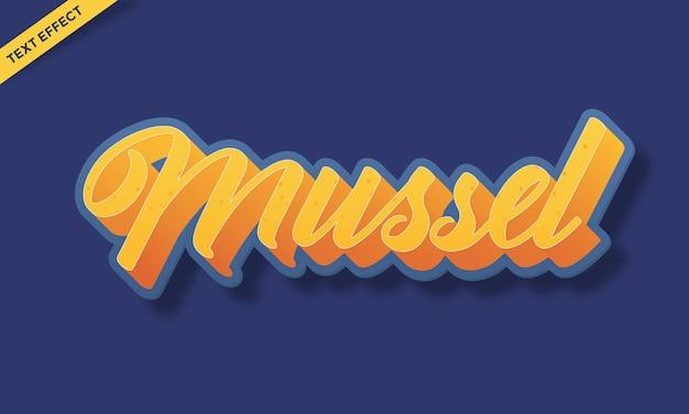 Mussel sea text effect design