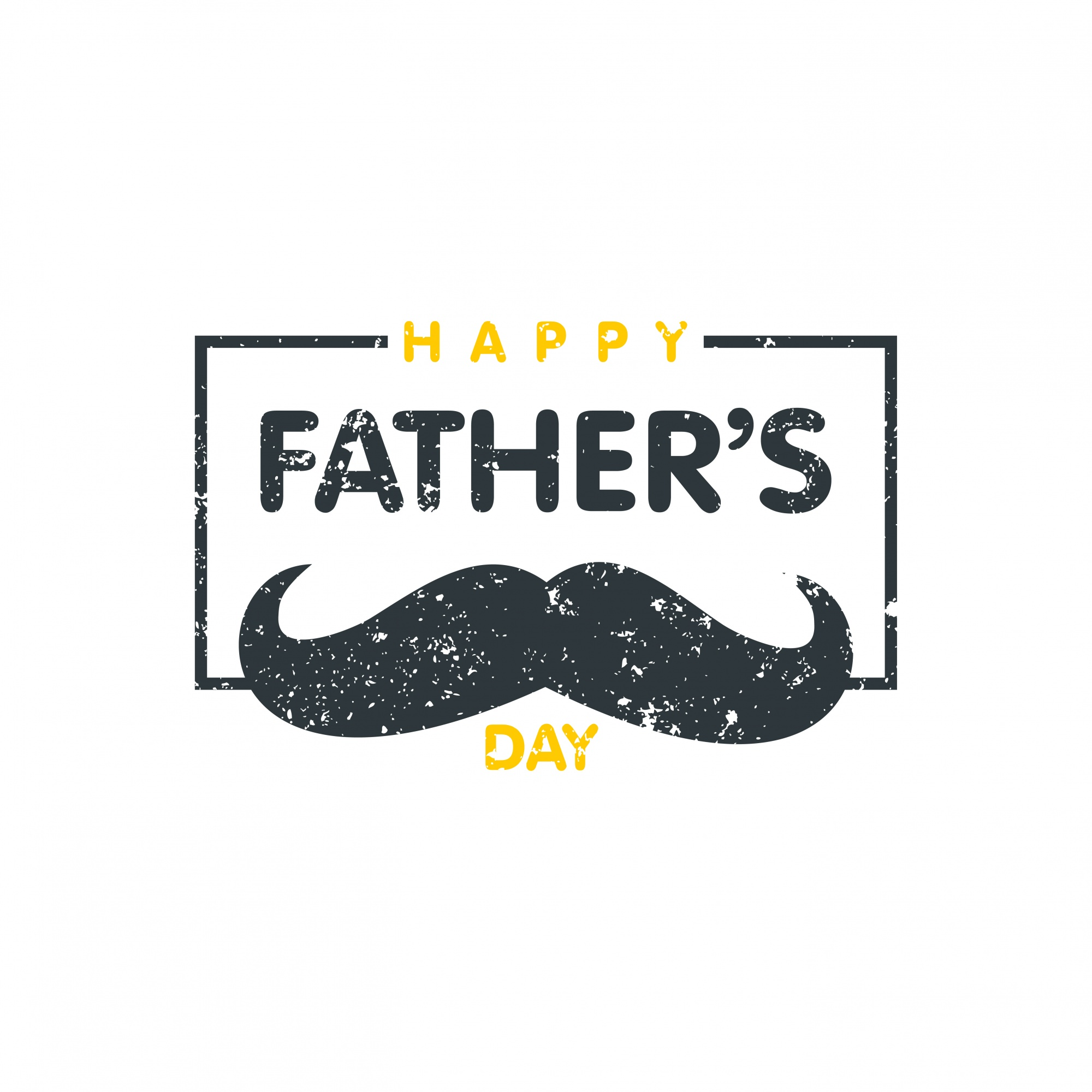 mustache background with vintage father's day