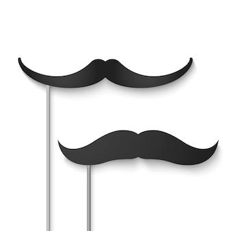 Mustache season. fake mustache photobooth. Premium Vector