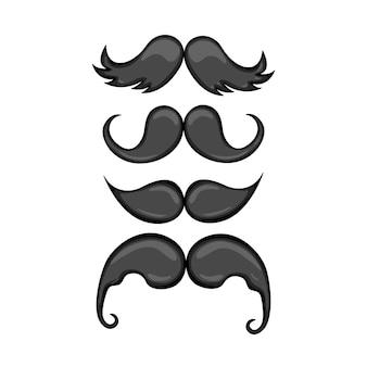 Mustaches set.