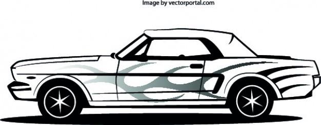 Mustang автомобиля боковое