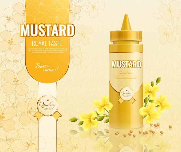 Mustard advertising illustration