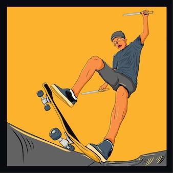 Mutan dog skater