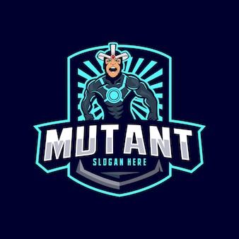 Логотип талисмана мутанта