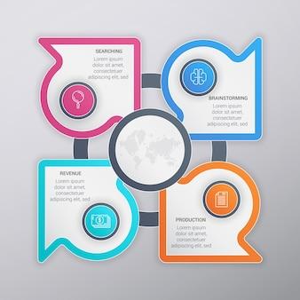 Muticolor Business Infographic Template Design
