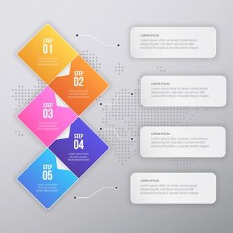 Дизайн шаблона бизнес-инфографики muticolor