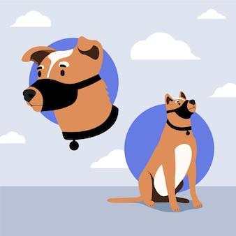 Иллюстрированная морда собака породы