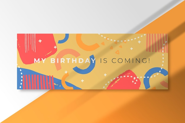 My birthday is coming banner