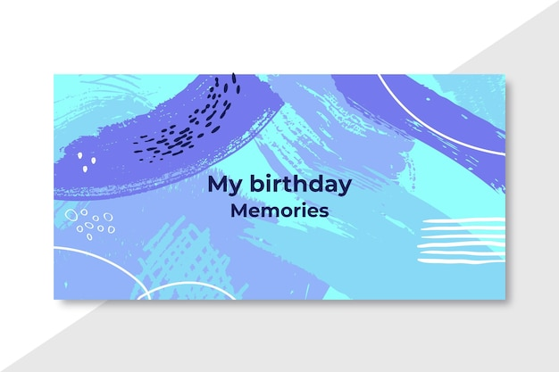 My birthday memories abstract banner