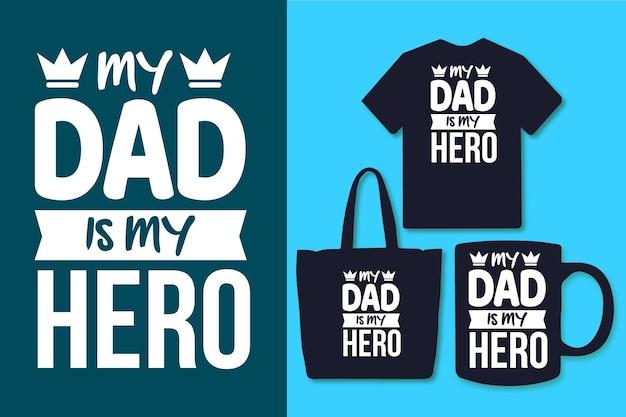 아빠는 나의 영웅 타이포그래피 아버지의 날 인용문 디자인