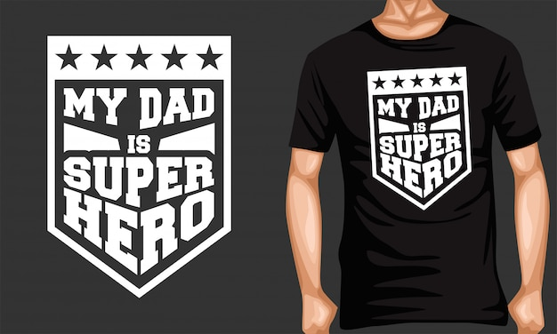 My dad superhero lettering typography