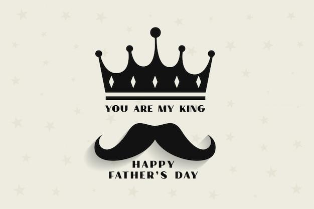 Mio padre, il mio re concetto per la festa del papà