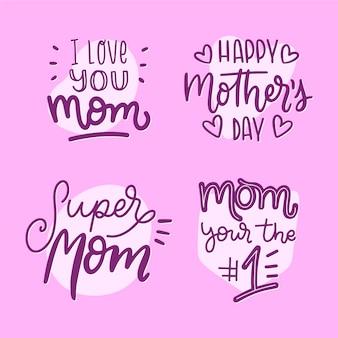 내가 가장 좋아하는 사람은 어머니 손으로 그린 라벨입니다.