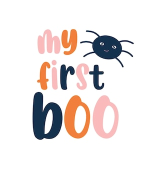 My first boo cute baby halloween design