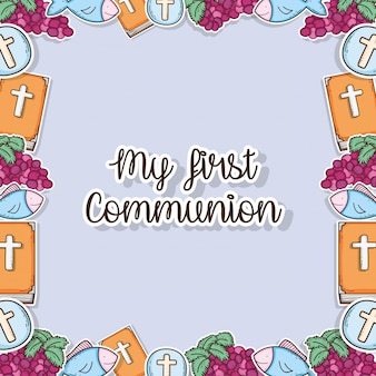 My fisrt communion traditional background design