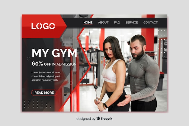 My gym promotion landing page