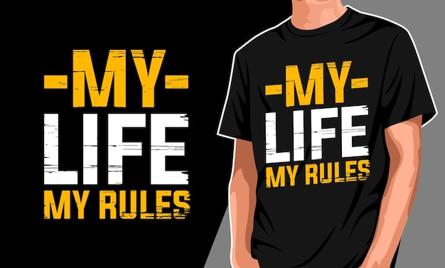 Моя жизнь мои правила дизайн футболки