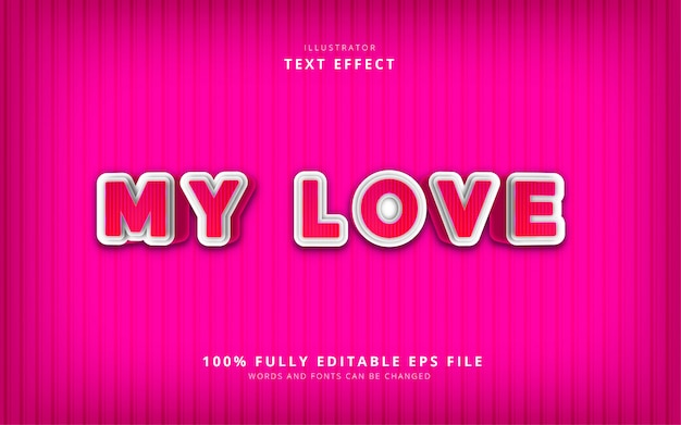 My love text effect