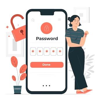 La mia illustrazione del concetto di password