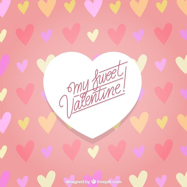 私の甘いバレンタインの背景