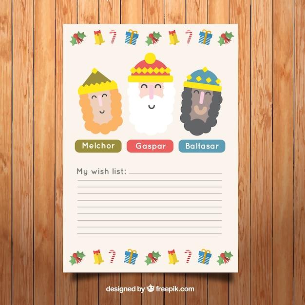 My wish list letter