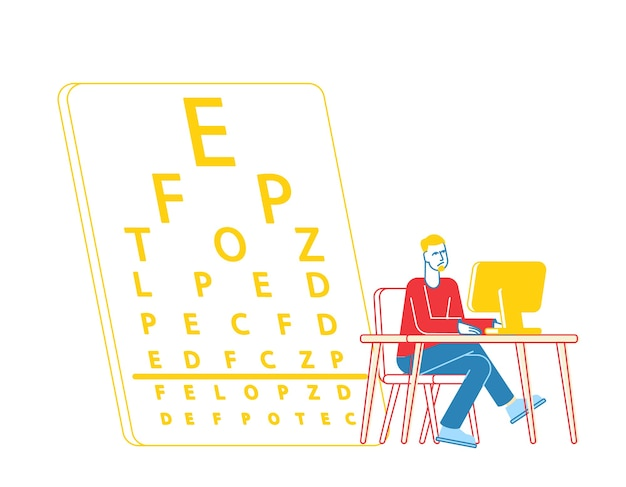 Myopia and eyes disease concept