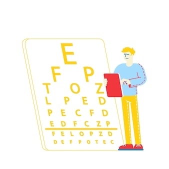 Myopia or nearsightedness diseases of eye and optical system