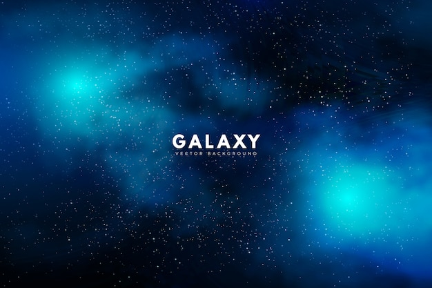 Mysterious galaxy background in green tone