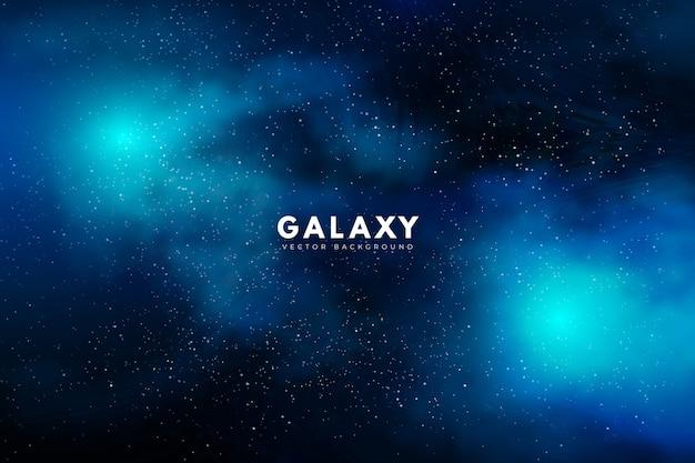Таинственный галактический фон в зеленых тонах